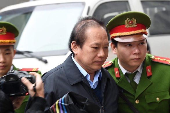 Truong Minh Tuan arrives at the Hanoi People's Court on December 28, 2019. Photo: Nam Anh / Tuoi Tre