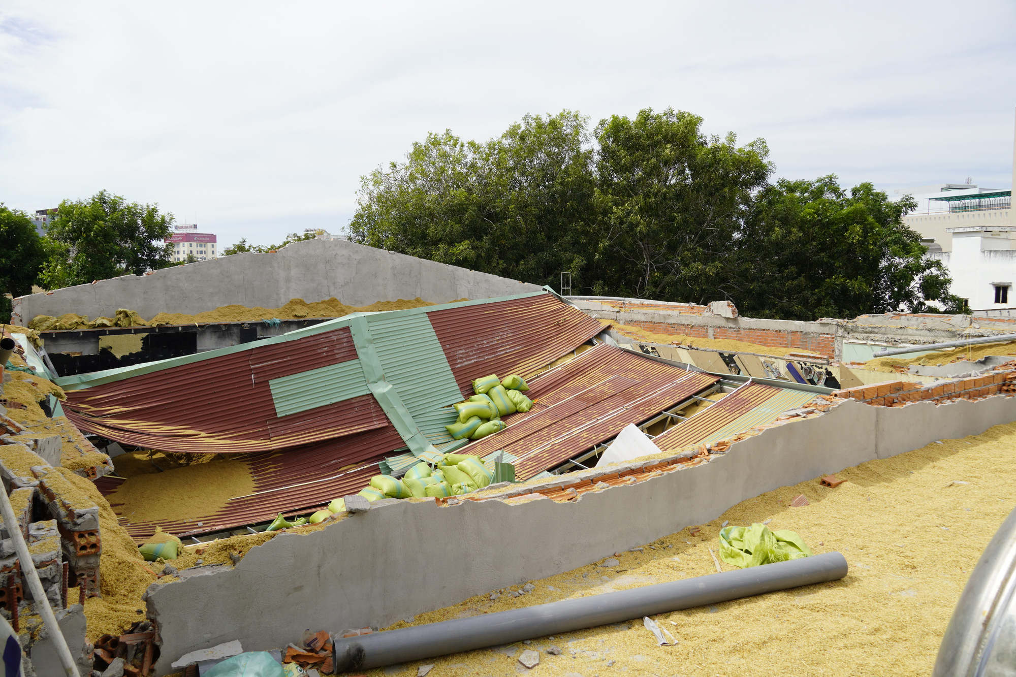 A collapsed roof of the club is pictured on December 4, 2019. Photo: Dong Ha / Tuoi Tre