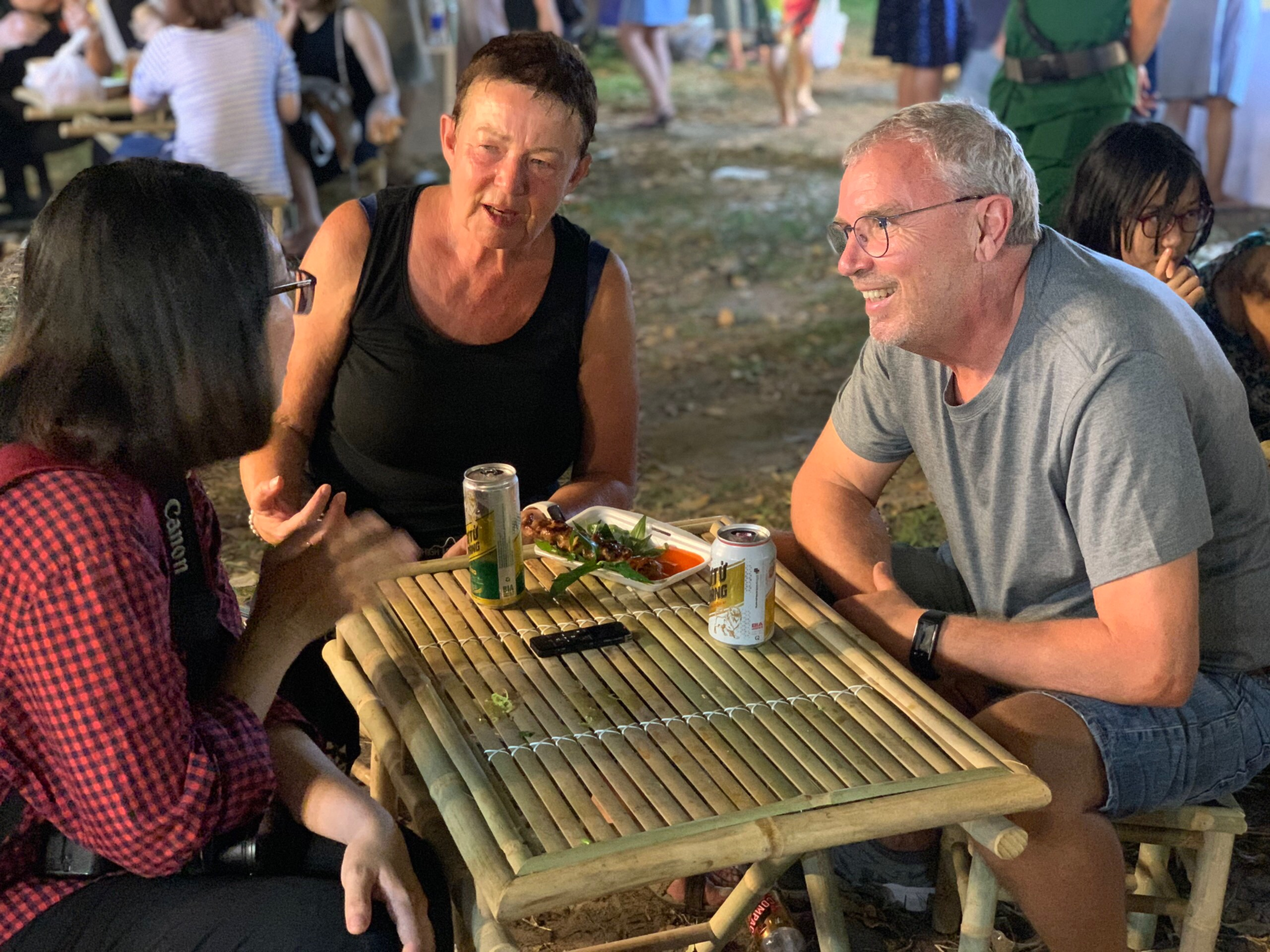 German Joachim Feiden and his wife Petra Kessler at the Tet Festival 2020 at Le Van Tam Park in Ho Chi Minh City's District 1 on January 3, 2020. Photo: Tuoi Tre News/ Bao Anh
