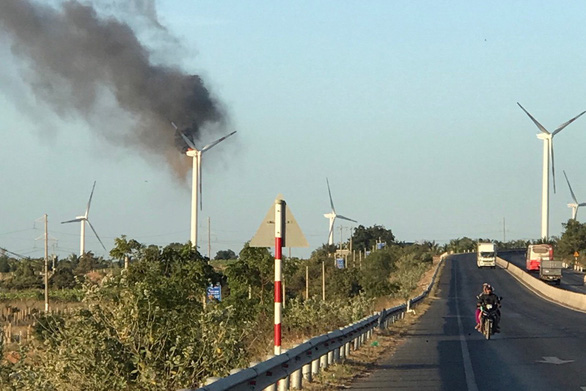 $3mn in damage after wind turbine catches fire in south-central Vietnam