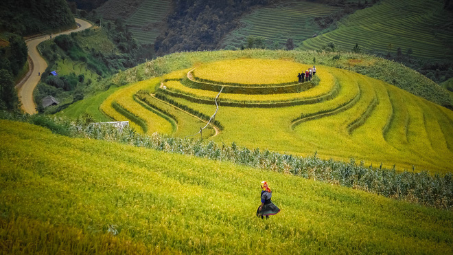 Rice terraces in Mu Cang Chai District in the northern province of Yen Bai. Photo: Tuoi Tre
