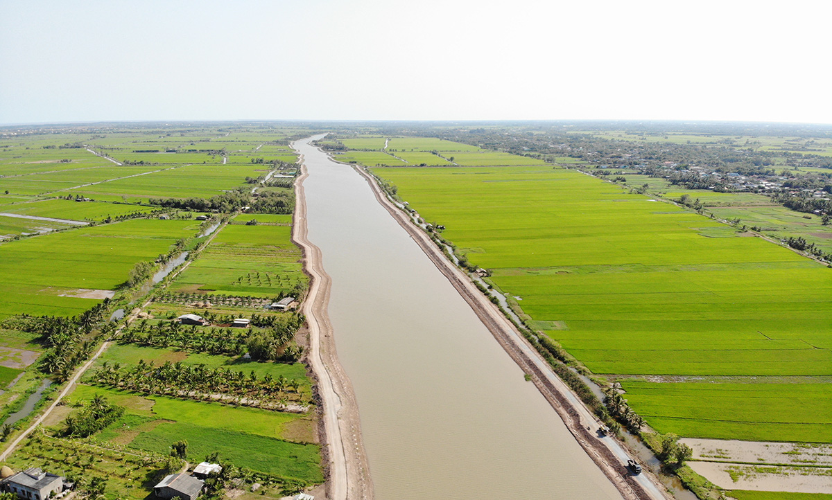 Ba Tri Reservoir, a project aimed at coping with saltwater intrusion in the Mekong Delta province of Ben Tre. Photo: M.Tr. / Tuoi Tre