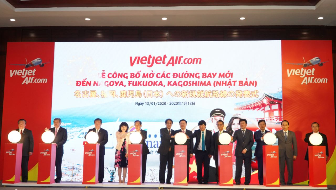 Vietjet announces 5 new Vietnam-Japan routes