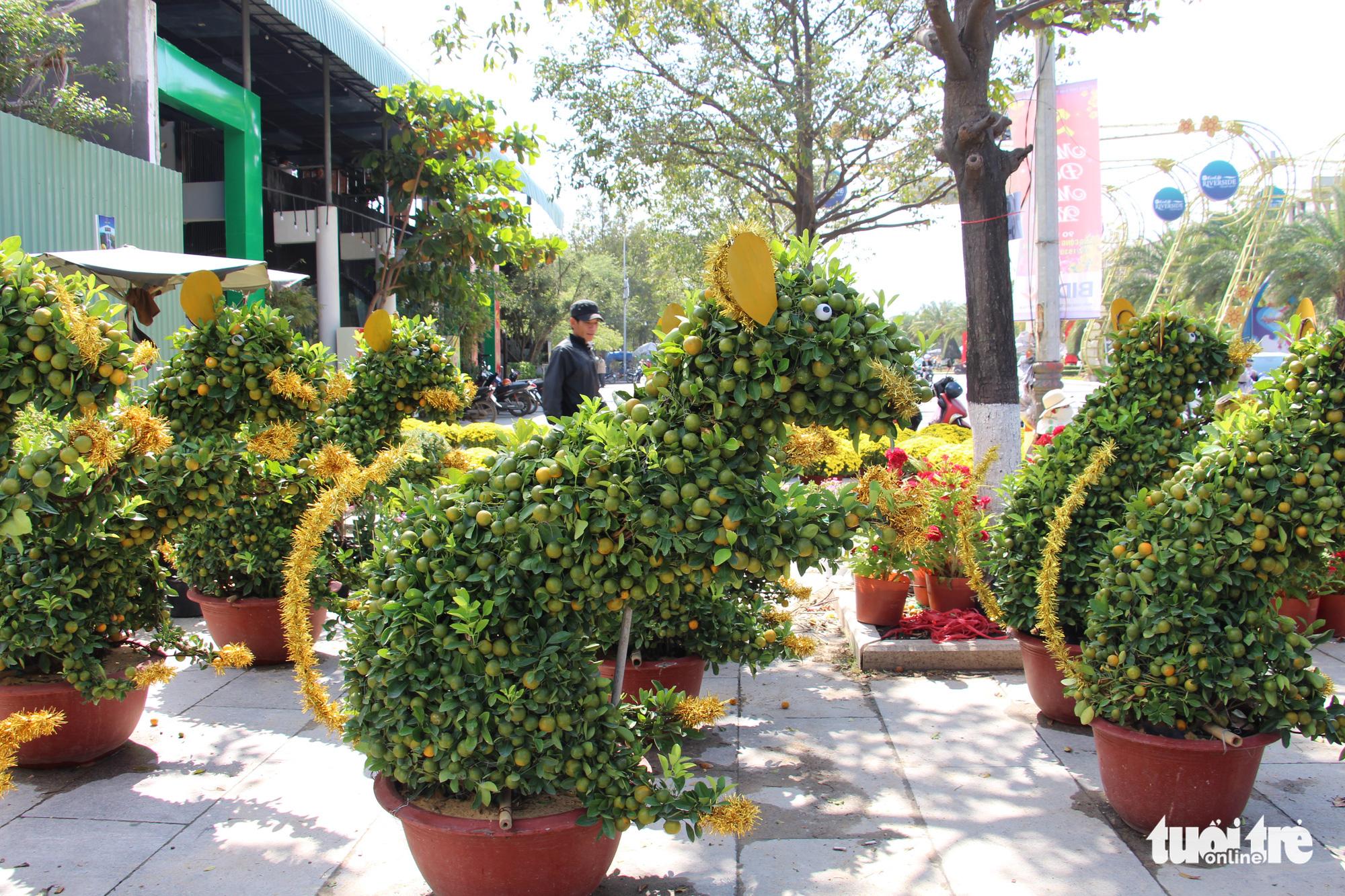 Rat-shaped kumquat bonsai trees a Tet decor trend in southern Vietnam