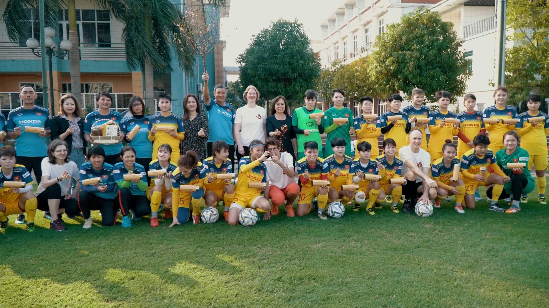 G4 ambassadors join Vietnam's female footballers in empowering Tet message