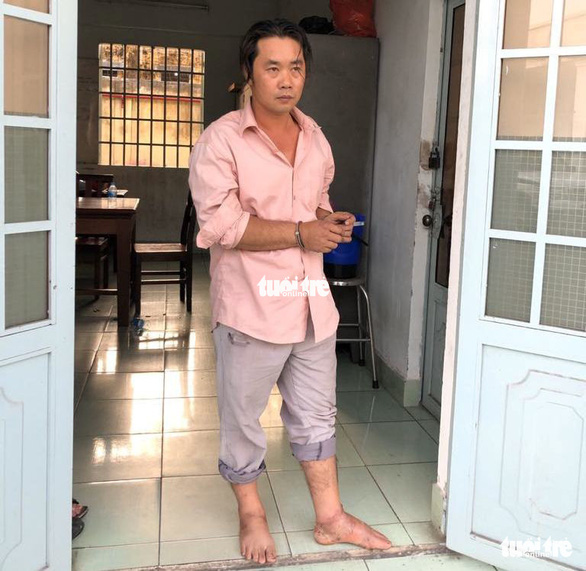 Nguyen Huu Phuoc is arrested in District 9, Ho Chi Minh City on January 22, 2020. Photo: S.B. / Tuoi Tre