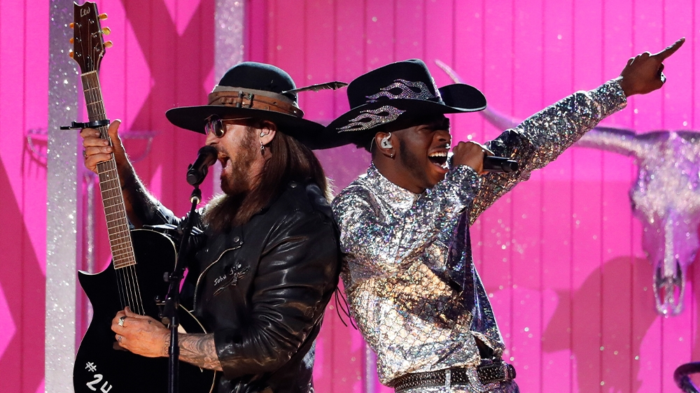 Billy Ray Cyrus and Lil Nas X performed at the 62nd Grammy Awards in Los Angeles, California, U.S. on January 26, 2020. Photo: Reuters