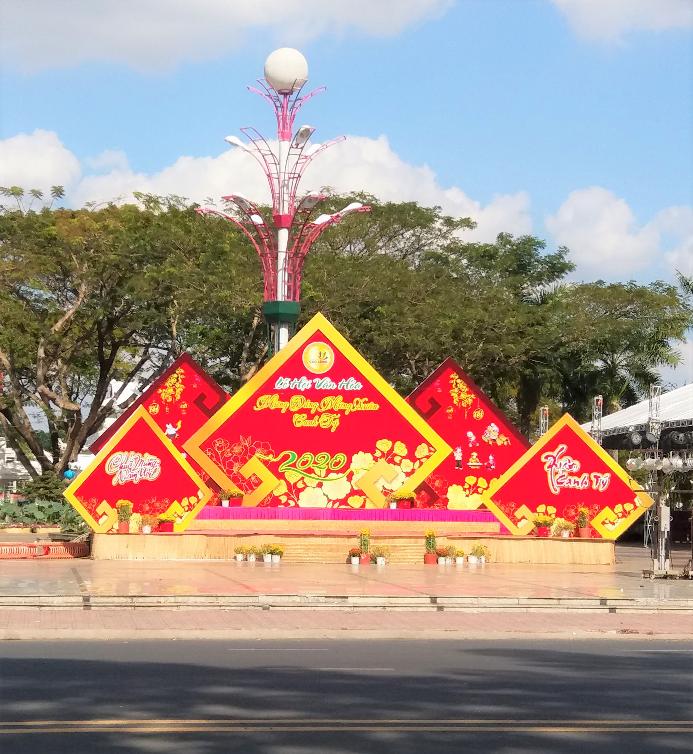 A stage for nighttime performance in Cao Lanh City, Dong Thap Province, southern Vietnam. Photo: Viet Toan / Tuoi Tre News