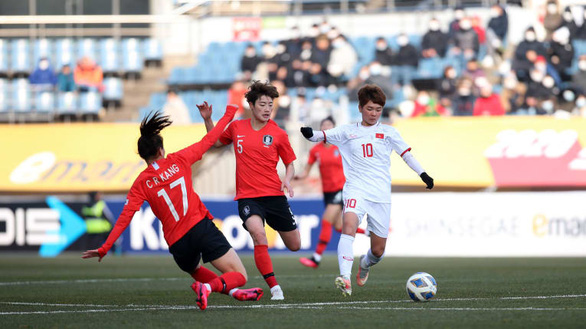 Vietnam advance to play-off despite beaten by S.Korea in Tokyo 2020 women's football qualifier