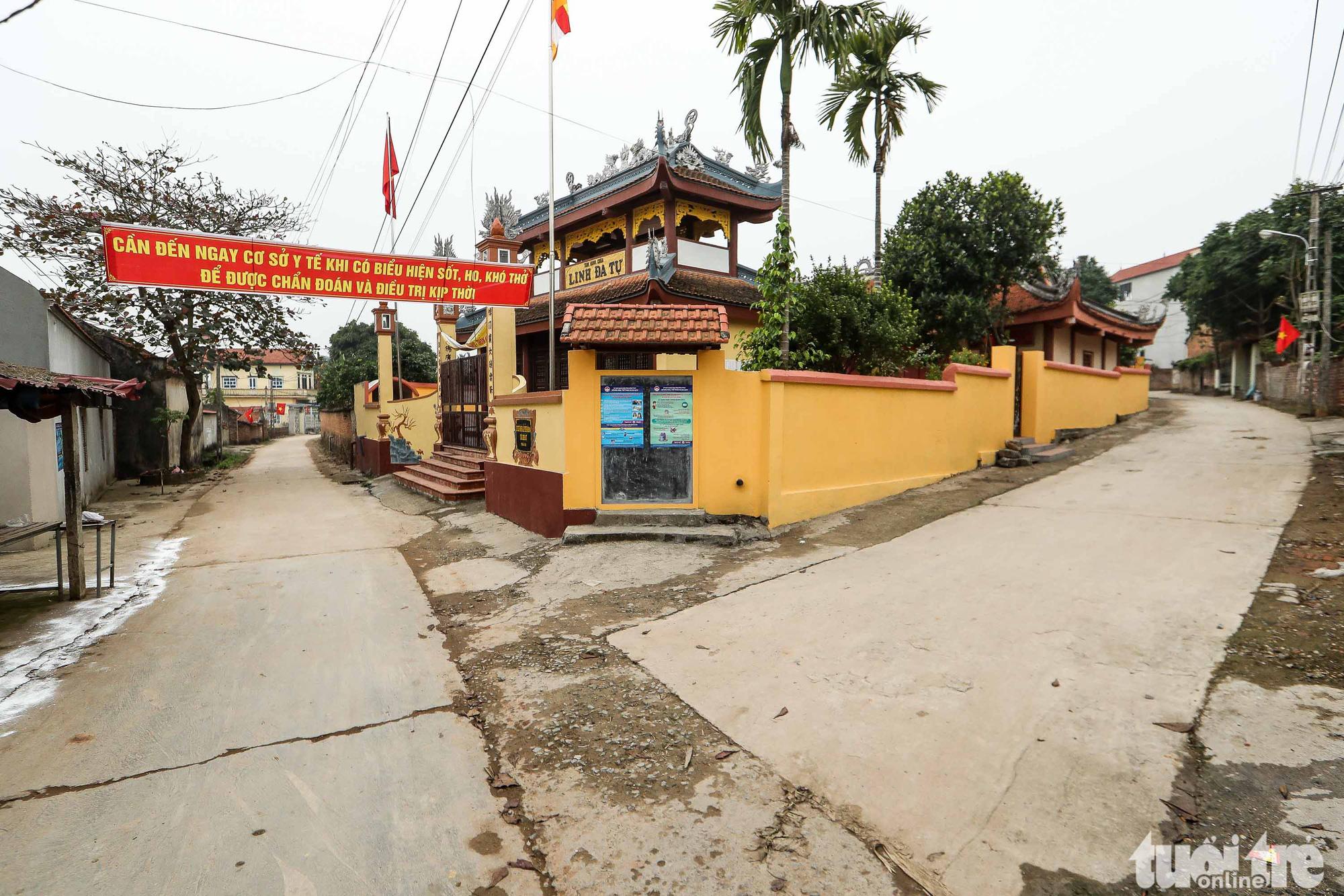 An empty street in Ai Van Village in Son Loi Commune, Binh Xuyen District, Vinh Phuc Province, Vietnam is seen in this photo taken on February 11, 2020. Photo: Nguyen Khanh / Tuoi Tre