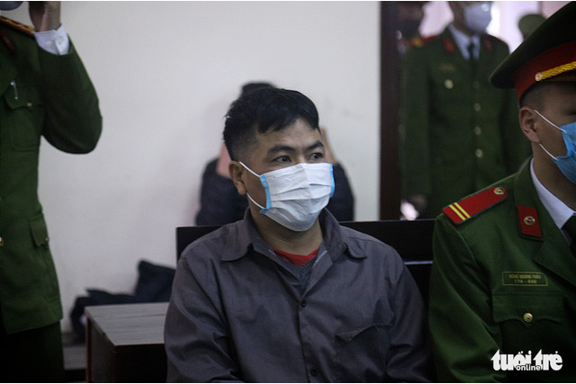 Ngo Van Son is at the trial in the northern Vietnamese province of Thai Nguyen on February 14, 2020. Photo: Danh Trong / Tuoi Tre