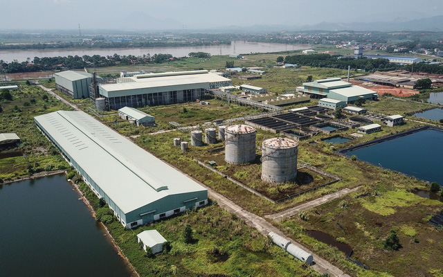 A bird eye's view of the Ethanol Phu Tho project in the northern province of Phu Tho, Vietnam. Photo: Nam Tran / Tuoi Tre