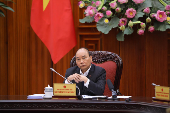 Vietnam's Prime Minister Nguyen Xuan Phuc attends a government meeting on measures against the COVID-19 epidemic in Hanoi, February 17, 2020. Photo: Viet Dung / Tuoi Tre