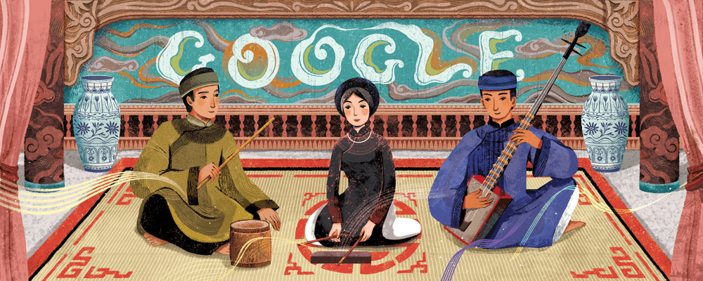 Vietnam's ceremonial singing 'ca tru' honored by Google Doodle