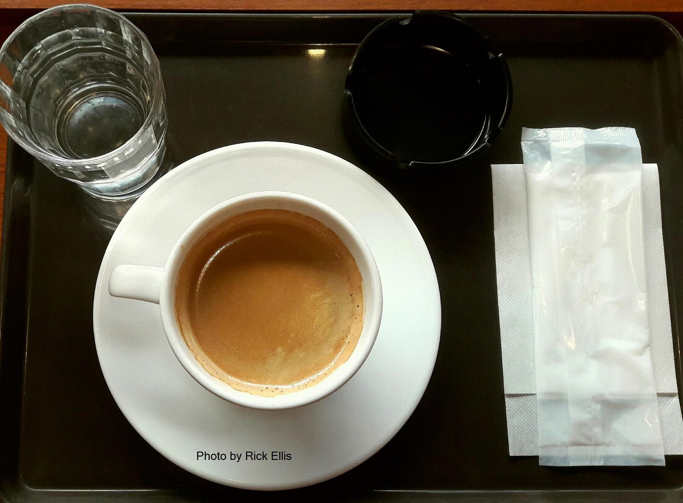 A cup of coffee served at Saint Marc Café in Nagasaki, Japan. Photo: Rick Ellis