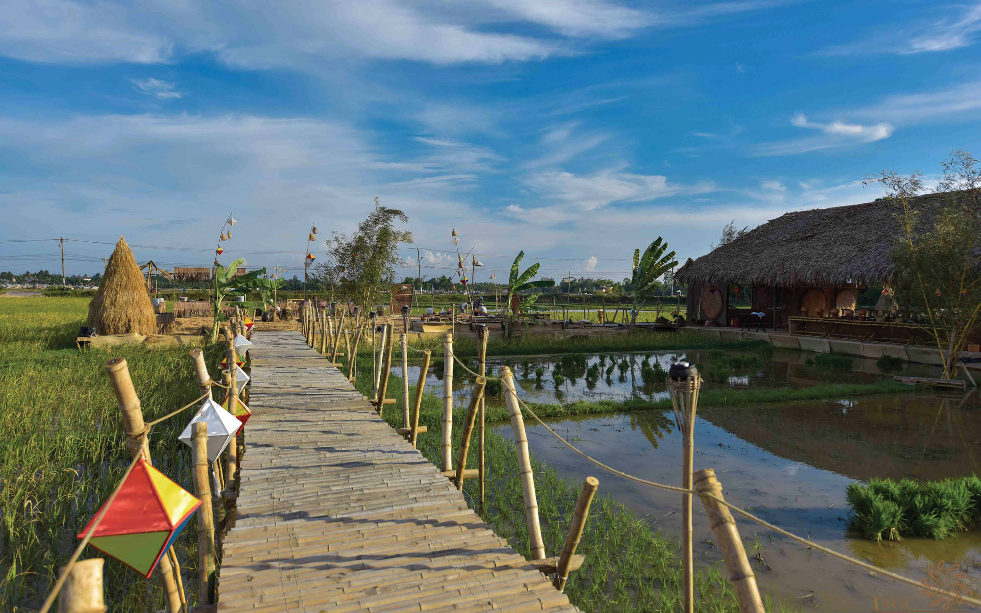 A view of The Field Restaurant located in Cam Thanh Commune, Hoi An City, Quang Nam Province in central Vietnam. Photo: Thai Ba Dung / Tuoi Tre