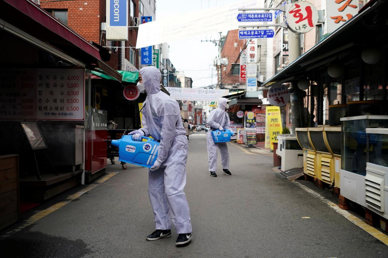 South Korea reports 594 more coronavirus cases, total 2,931