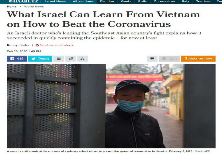 Vietnam did not consult Israeli doctor in COVID-19 prevention: health ministry