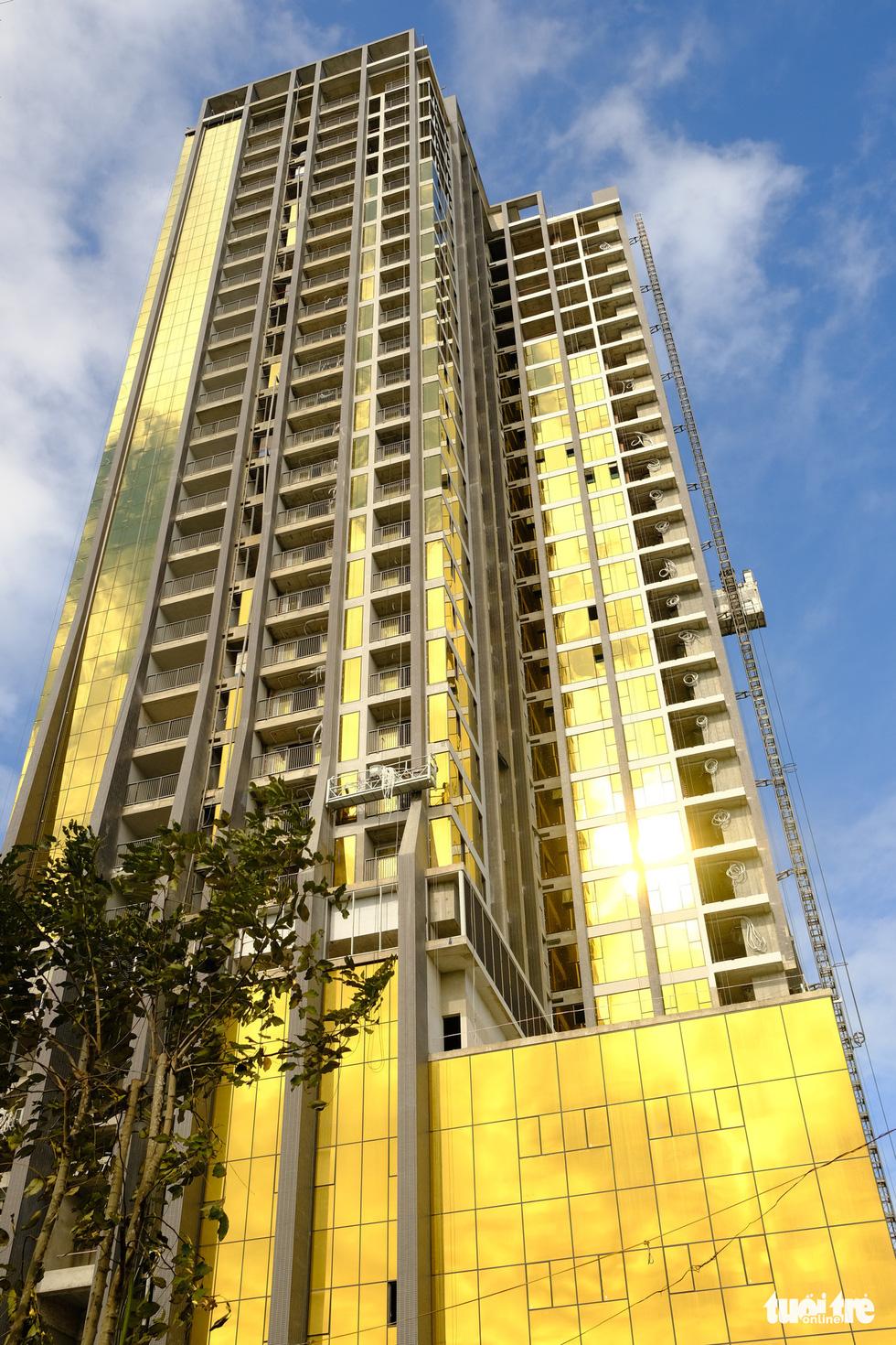 The Risemount Apartment Da Nang tower on Nhu Nguyet Street, Hai Chau District, Da Nang. Photo: Tan Luc / Tuoi Tre