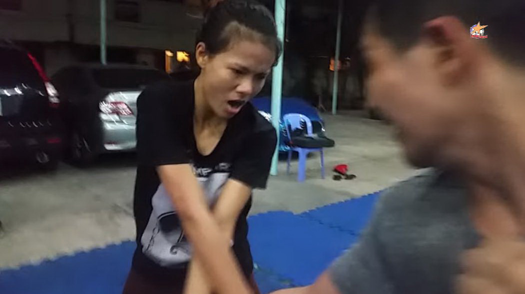 Bao Quan trains to be a stuntwoman at Quoc Thinh Cascadeur Club in Ho Chi Minh City, Vietnam in this provided photo.