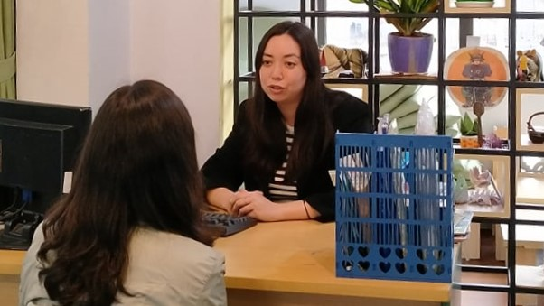 Xia Li Summerfield (L), an Australian qualified social worker and mental health professional, is seen in this provided photo.