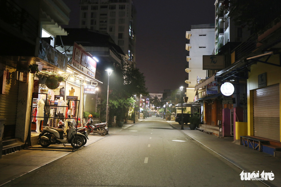 Anempty street in Hue's 'backpacker zone', March 11, 2020. Photo: Phuoc Tuan / Tuoi Tre