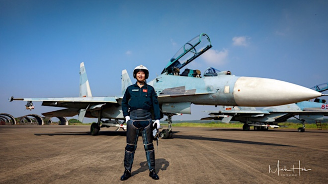 Vietnamese fighter jet pilot Nguyen Quang Sang is seen in this provided photos.