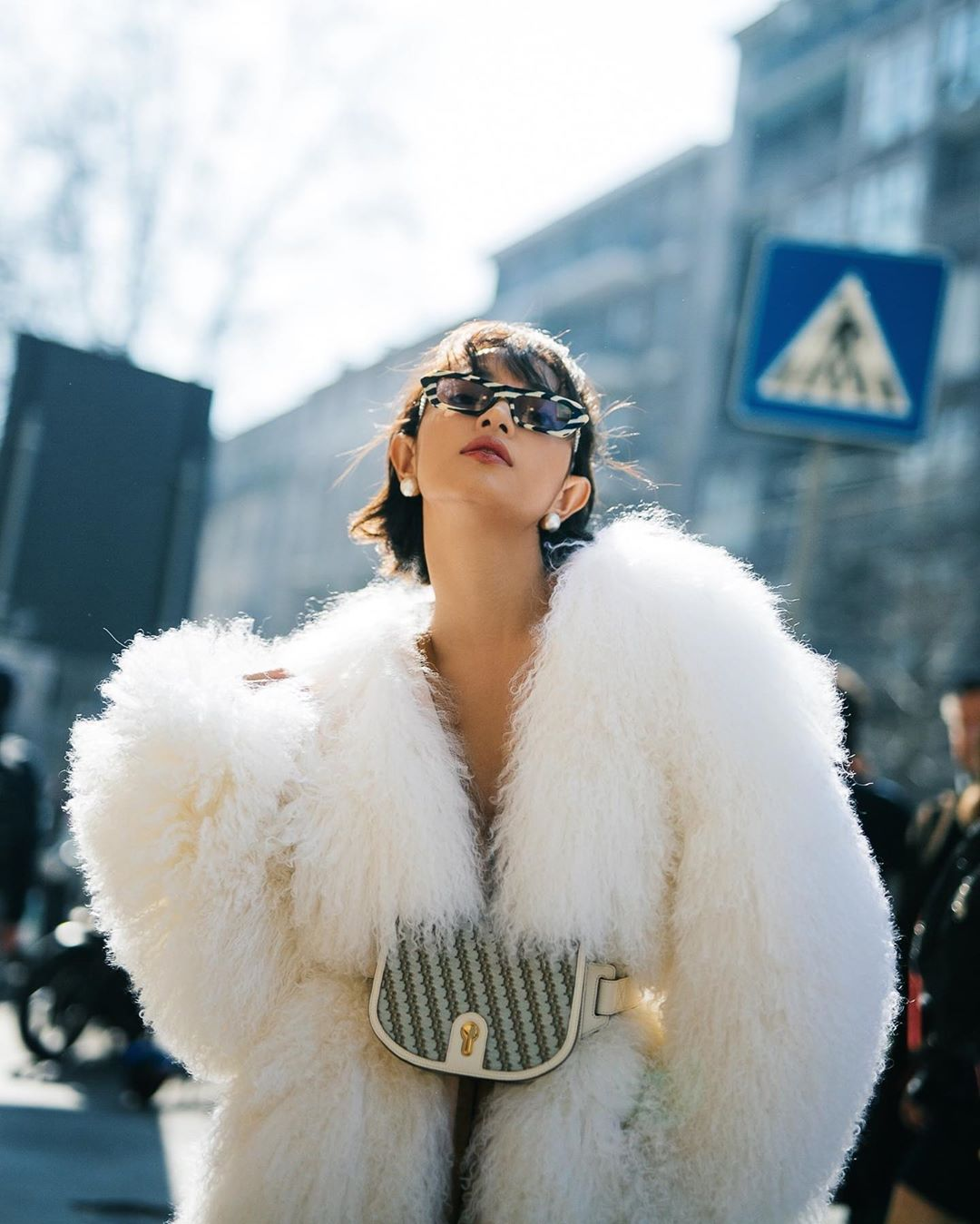 Chau Bui is seen on a photo she posts on her Instagram in February 2020, capturing she while attending a fashion event in Milan