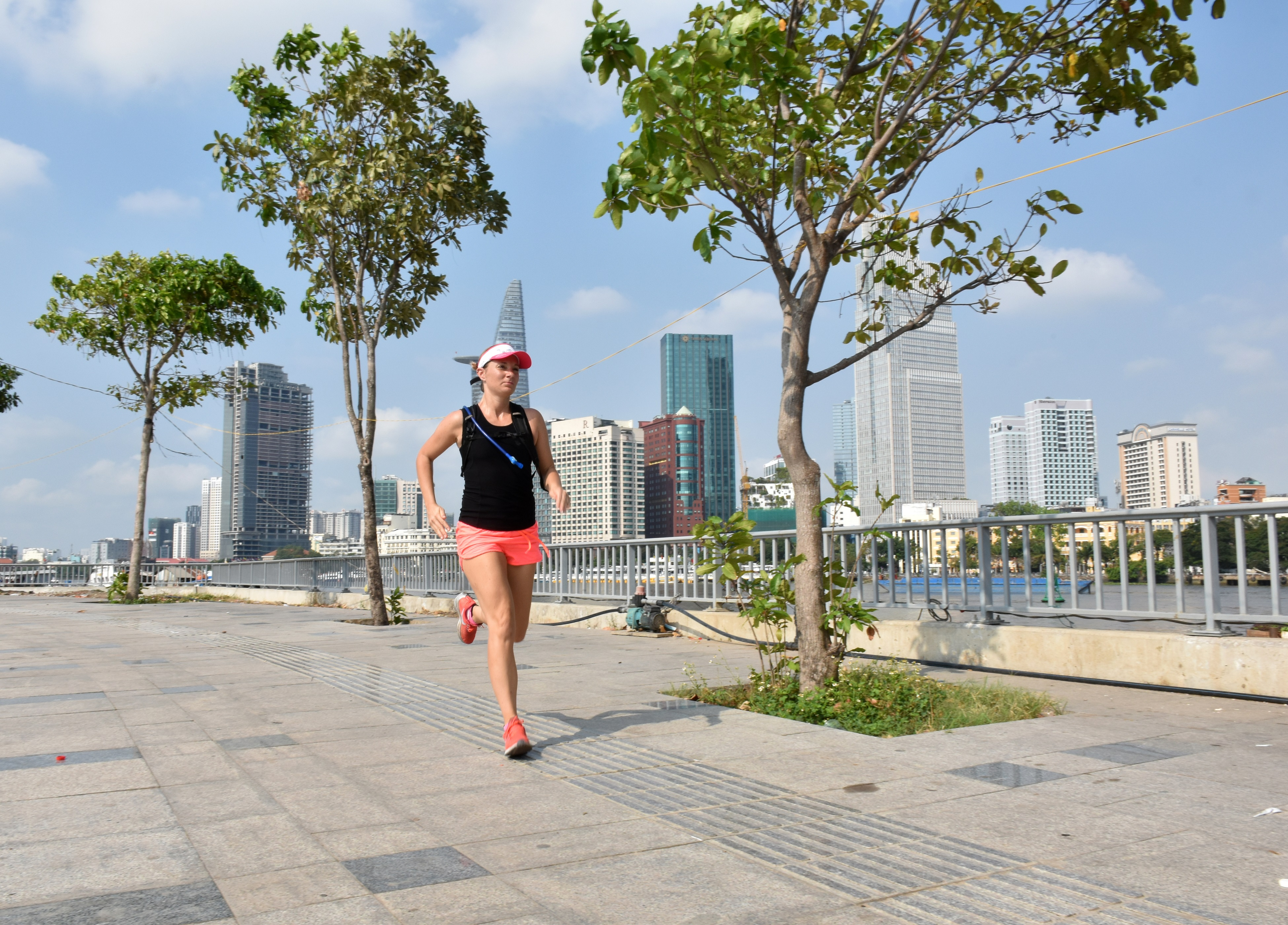 Naomi Skinner runs in Ho Chi Minh City in this supplied photo.