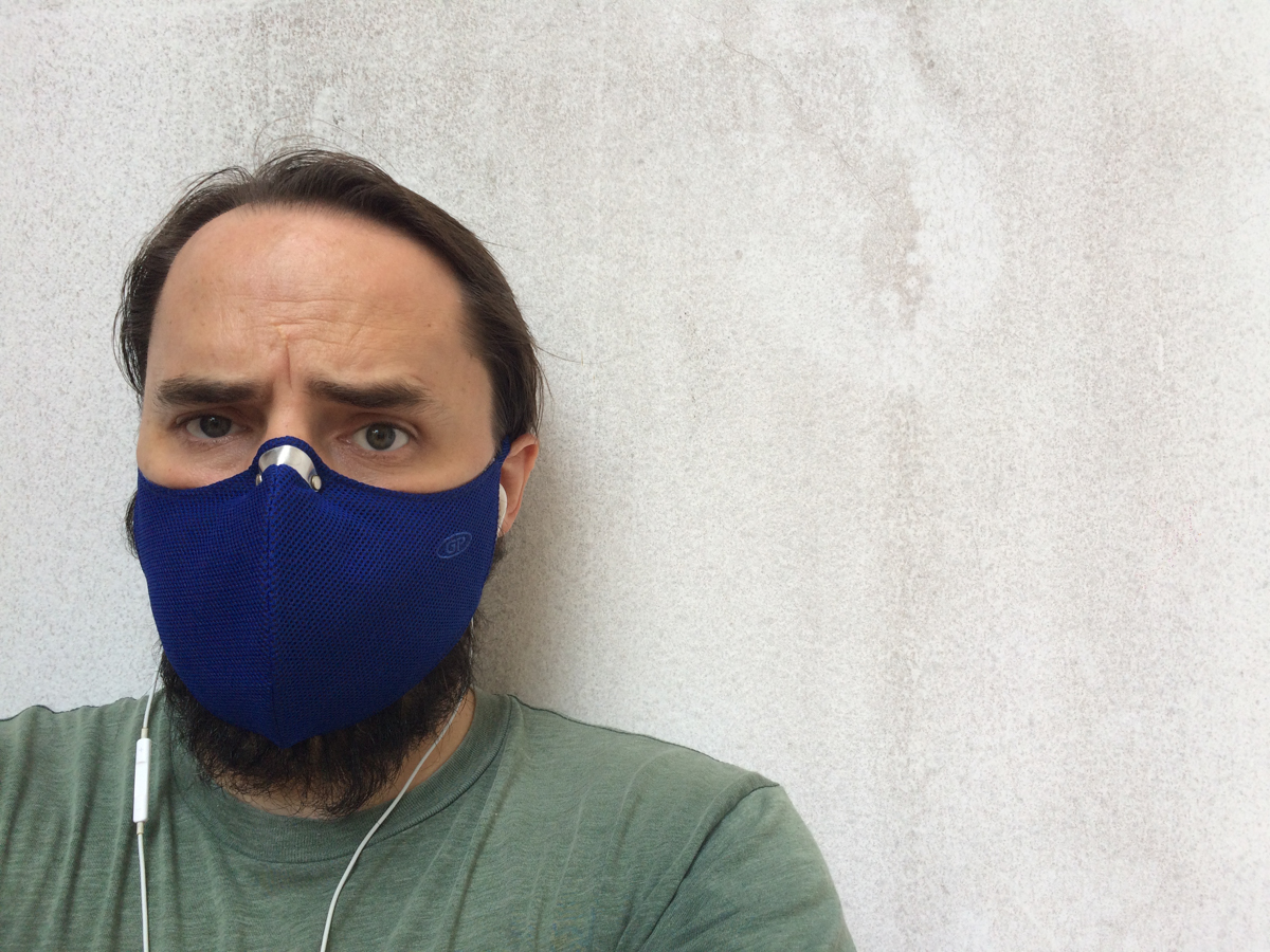 The author is seen wearing a face mask outside a home in Thao Dien Ward, District 2, Ho Chi Minh City in this supplied photo.