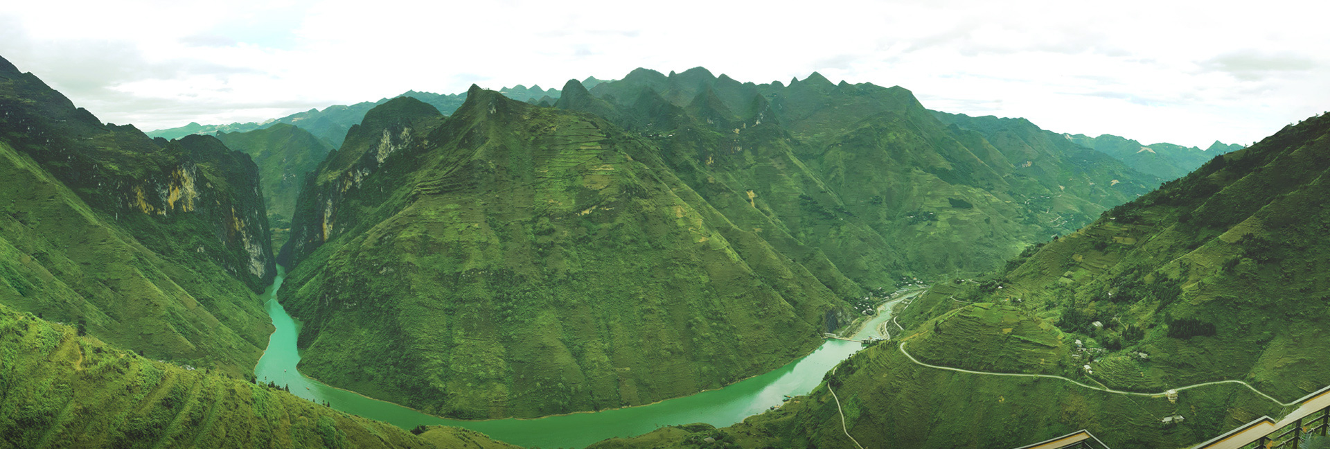 Nho Que River as seen from atop Ma Pi Leng Peak in Ha Giang Province, Vietnam.