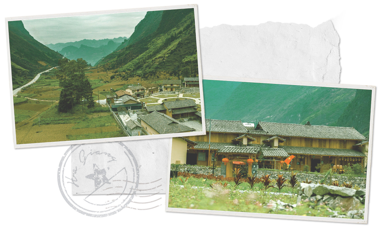 A cultural-tourism Mong village in Ha Giang Province, Vietnam.