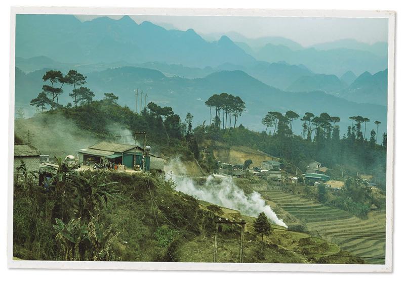 Terraced paddy fields in Ha Giang Province, Vietnam.