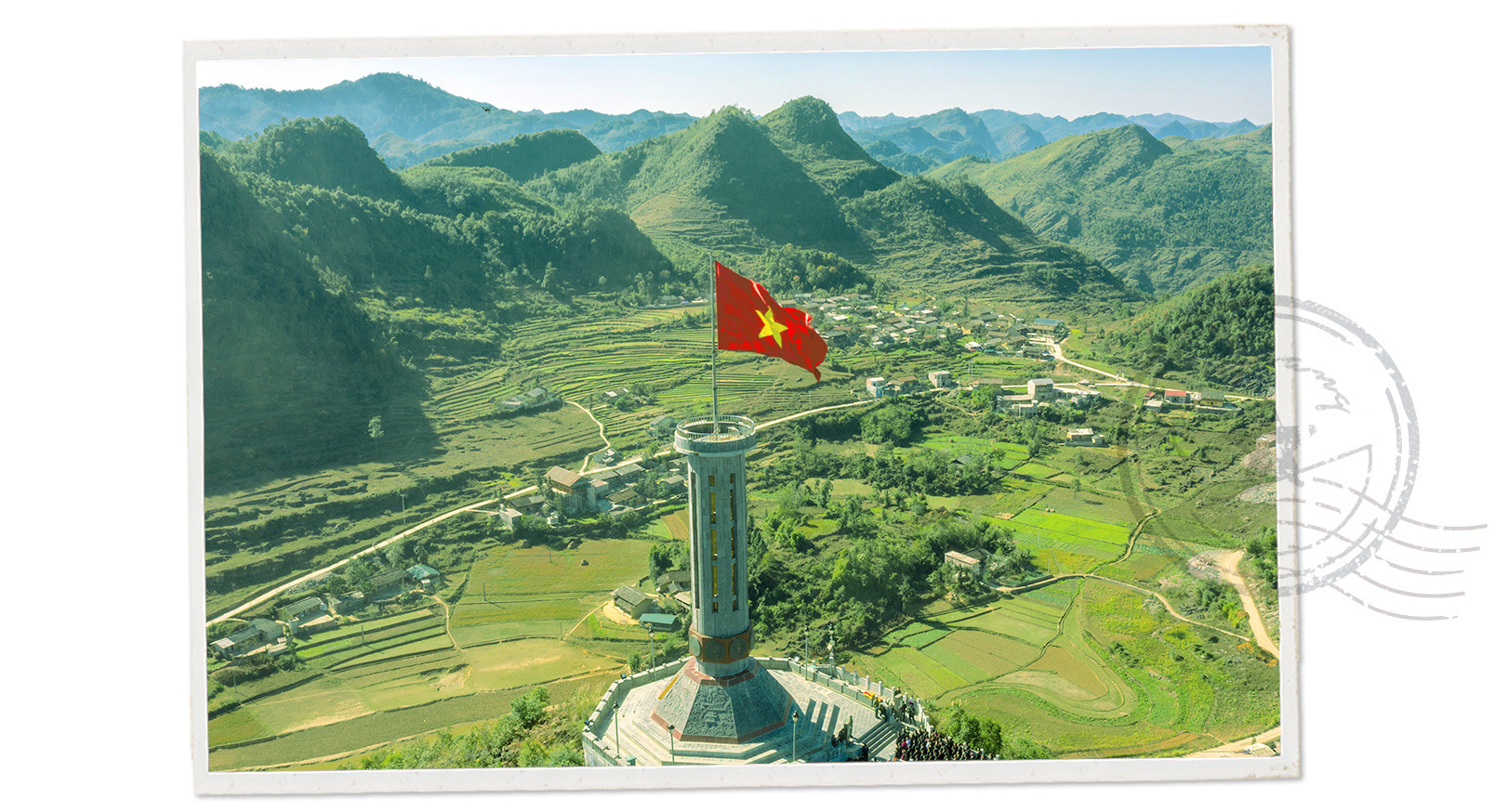 The Lung Cu flagpole in Dong Van District, Ha Giang Province, Vietnam.