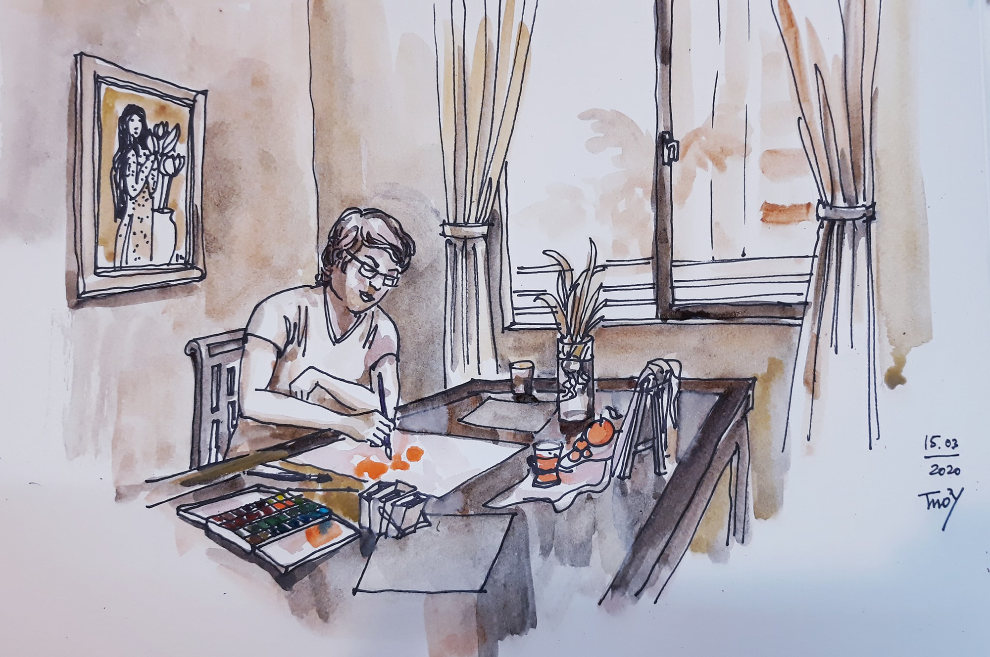 'When the nation needs you to stay still' by Tran Thi Thanh Thuy.