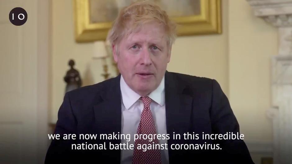 Boris Johnson says medics saved his life as UK deaths pass 10,000 mark