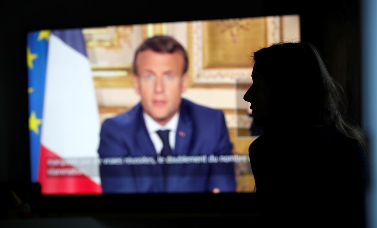 Promising 'better days,' Macron extends France's lockdown until May 11