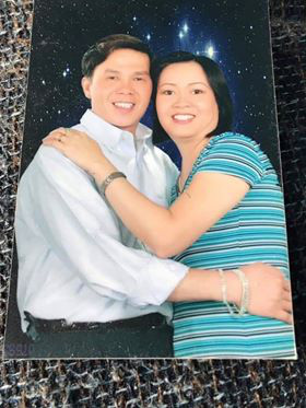 Nguyen Minh Son (left) and his wife N.T.L. are seen in this supplied photo.