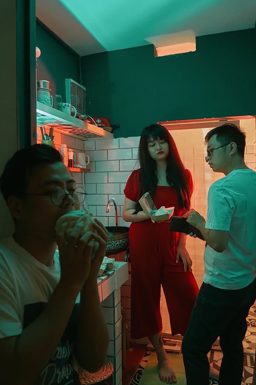 Trung Duc and Khai Quan are captured visiting Hong Kong in their imaginary 'Lost at Home' photo collection in which they staged their house into world scenes.
