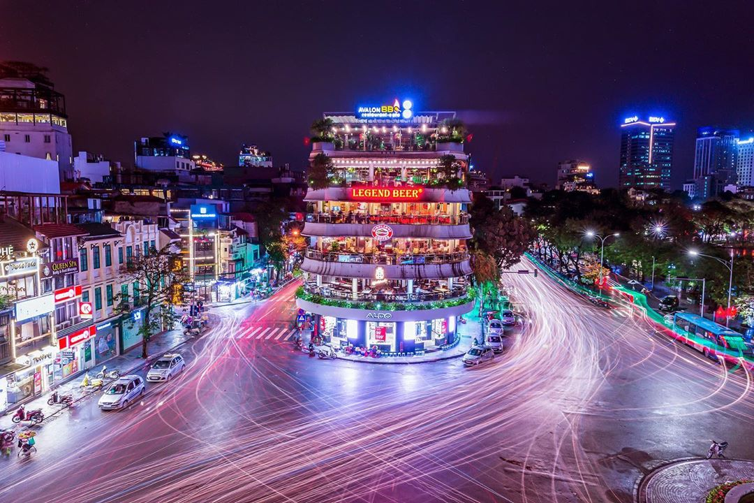 A photo capturing Hanoi by night by Prabu Mohan. Photo: Supplied