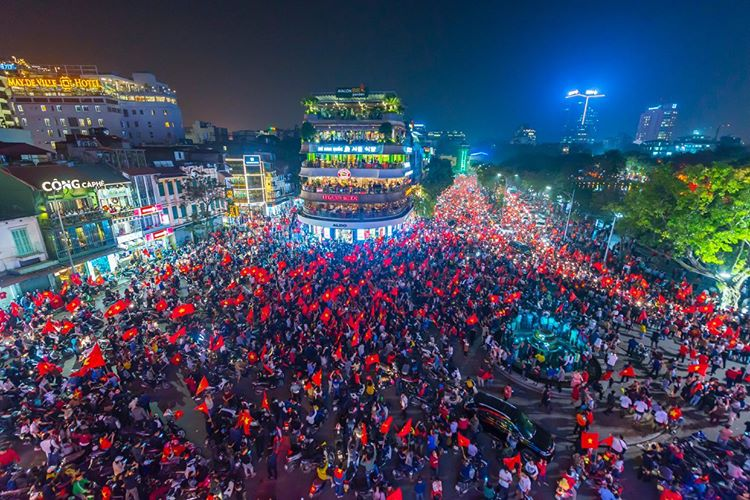 A photo taken by Prabu Mohan in January 2018 when Vietnam won the AFC cup semi final. Photo: Supplied