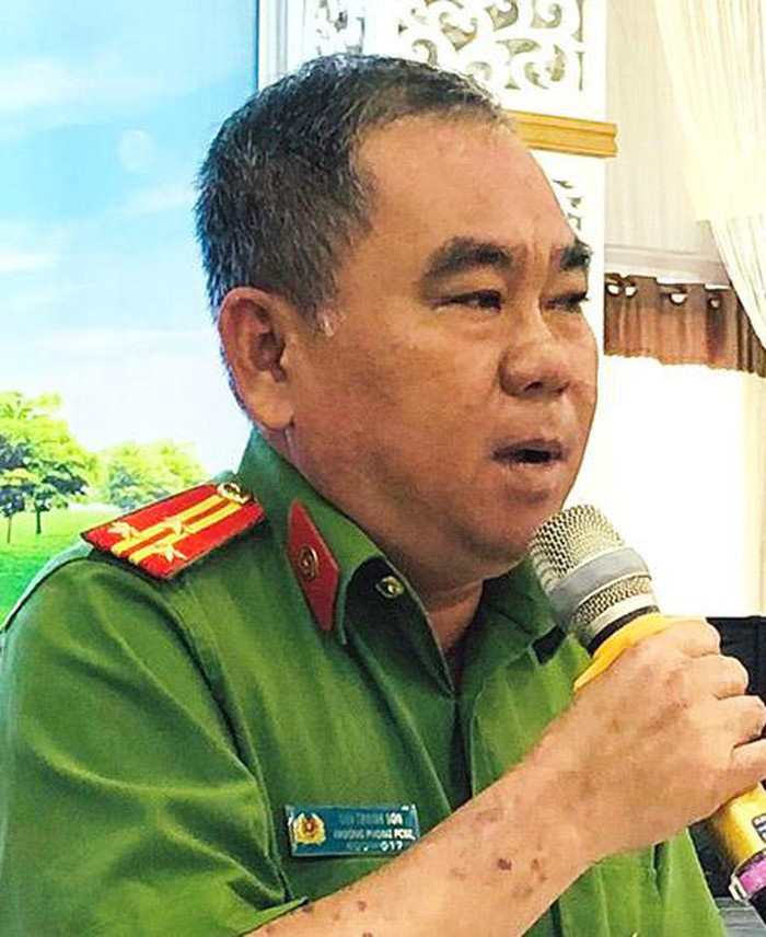 Senior Lieutenant Colonel Bui Thanh Son, head of the investigation police agency in Dong Nai Province.
