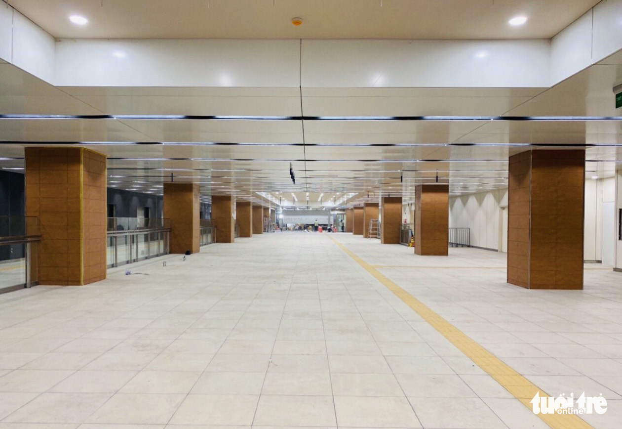 The first underground floor of the Municipal Theater Terminal of metro route No.1 in downtown Ho Chi Minh City. Photo: Quang Dinh / Tuoi Tre