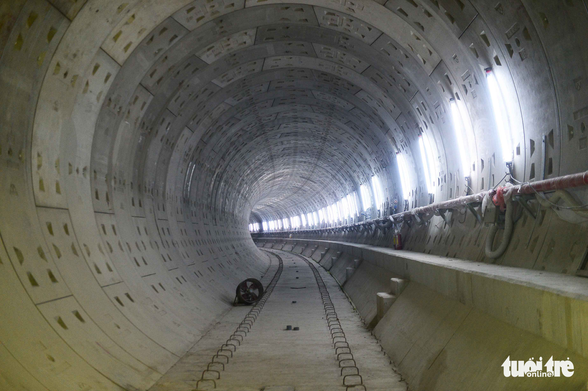 A tunnel connecting the Municipal Theater Terminal with Ben Thanh Terminal of Ho Chi Minh City's metro line No. 1 project. Photo: Quang Dinh / Tuoi Tre