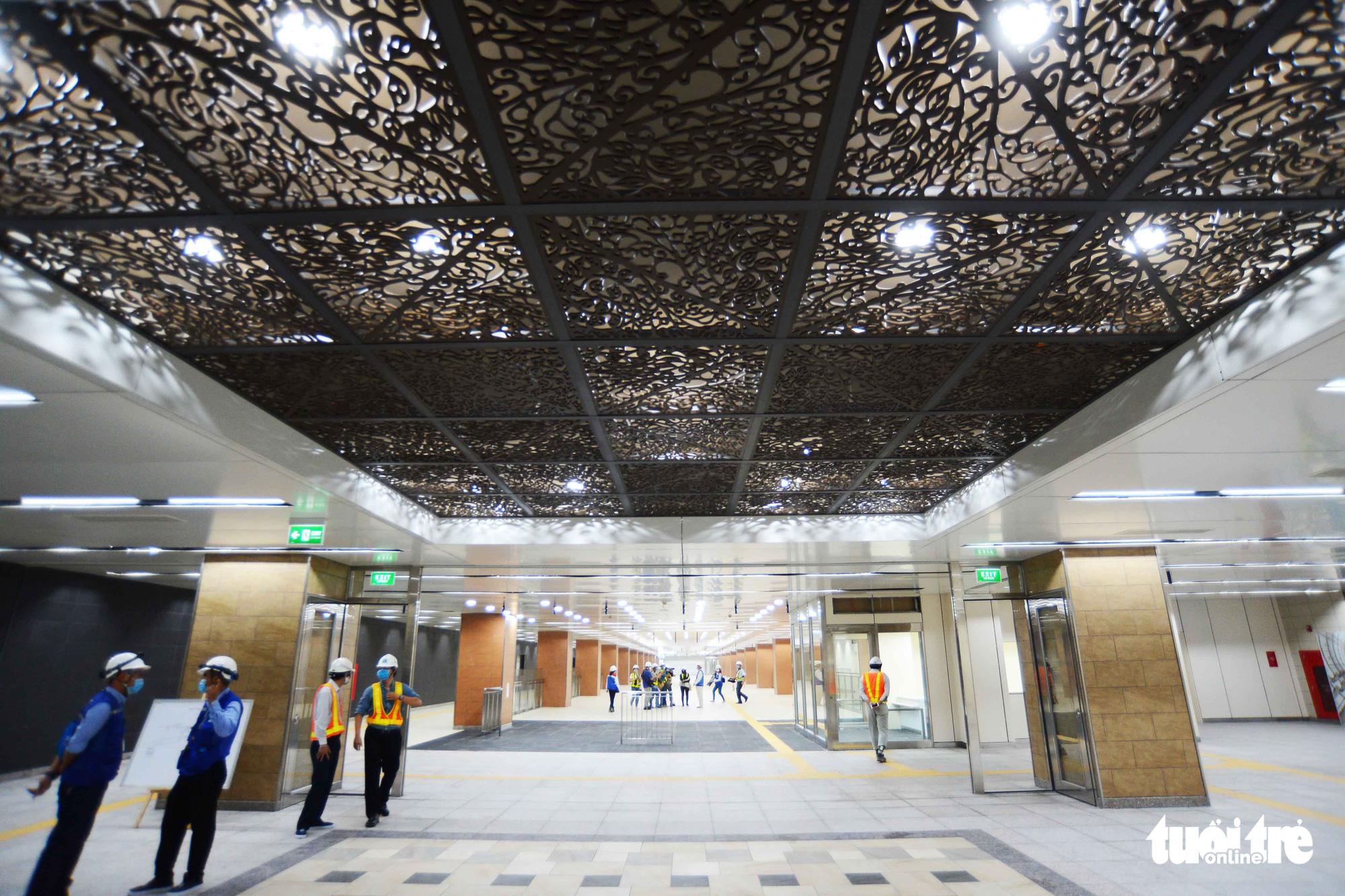 Saigon's downtown metro terminal set to open to public visits