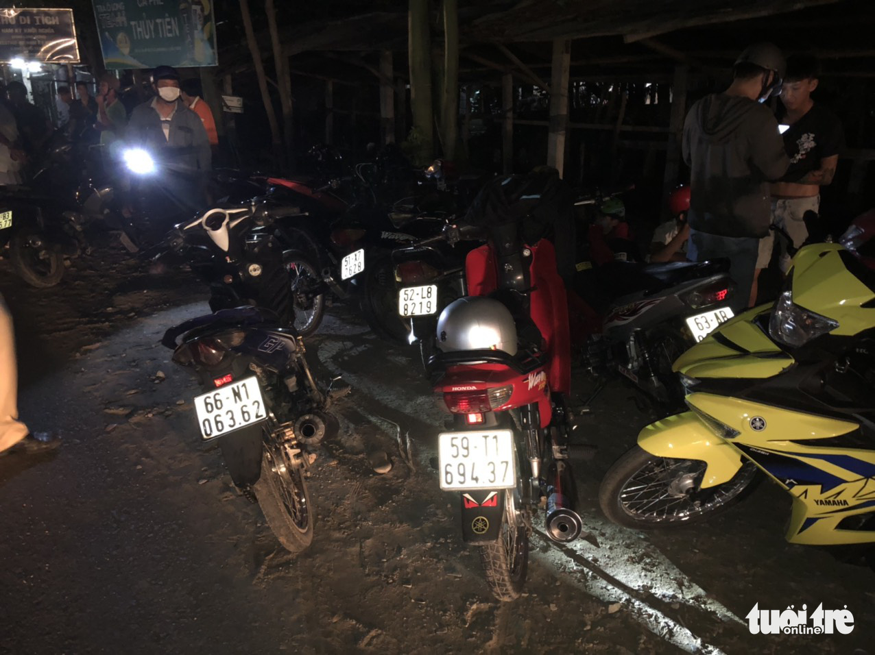 Motorbikes of the street racers are kept at the police station in Tien Giang Province, Vietnam on May 2, 2020. Photo: H.T. / Tuoi Tre