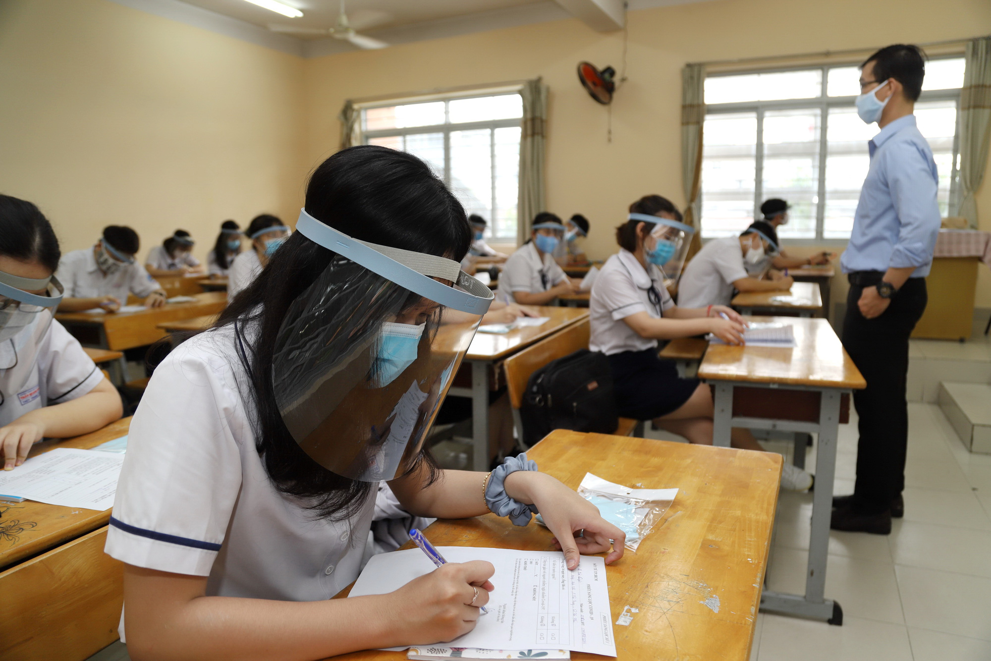 Overkill? Debate in Vietnam over necessity of face shields in class
