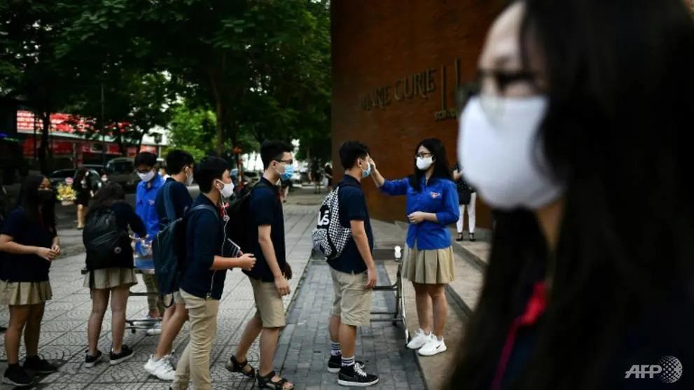 Vietnam kids back at school after 3-month virus break