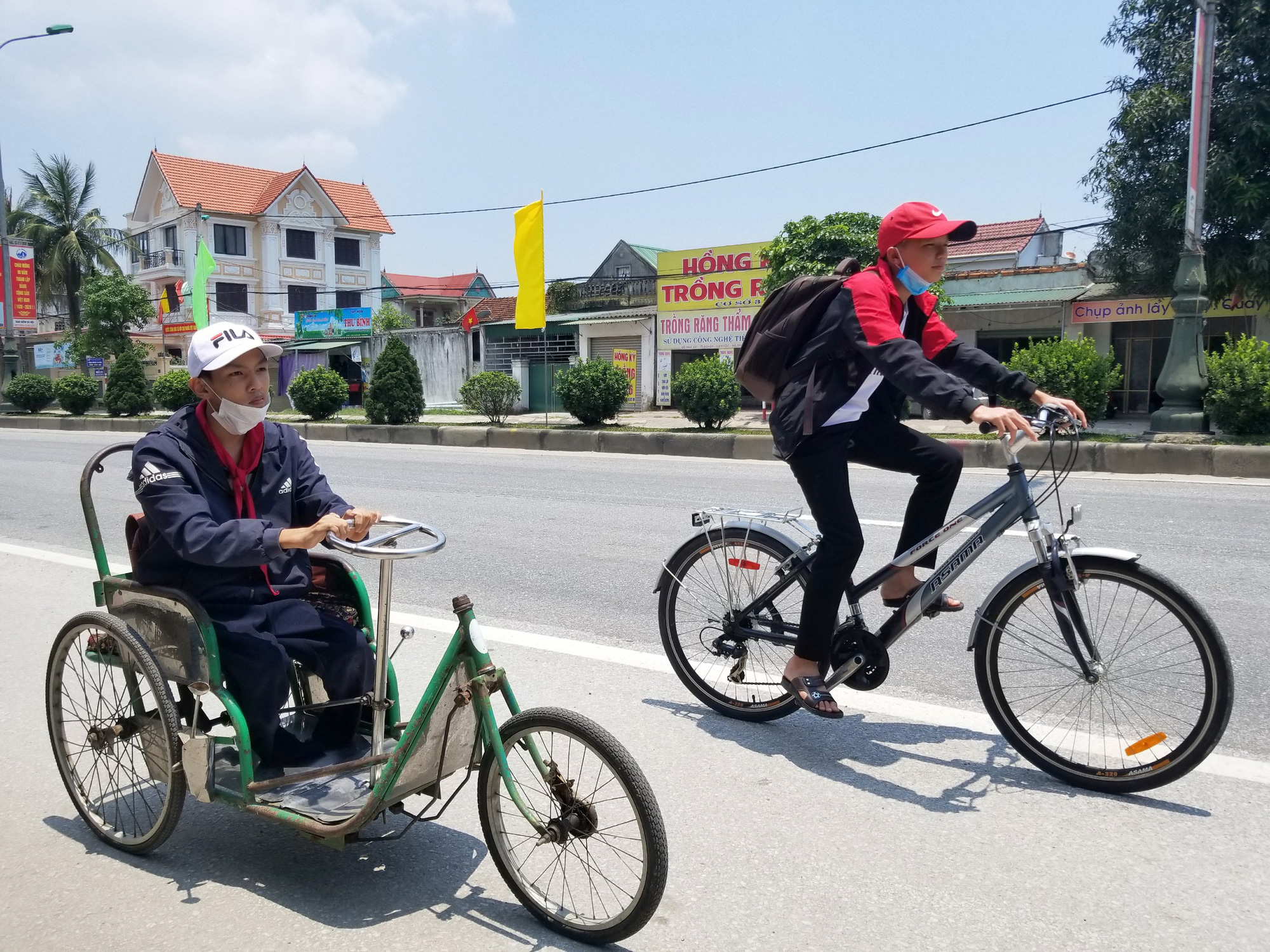 Two Vietnamese boys, five wheels, and a heartwarming story to tell