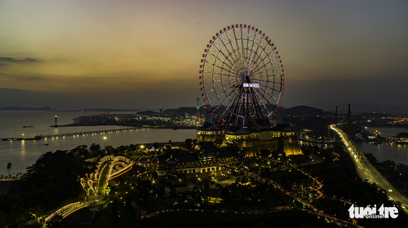 A giant Ferris wheel at the Sun World Ha Long Complex in Ha Long Bay, Quang Ninh Province, Vietnam in this undated photo. Photo: Tien Thang / Tuoi Tre